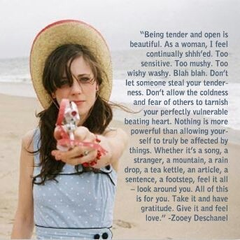 I love this quote! Hooray for being a loving,tender woman!