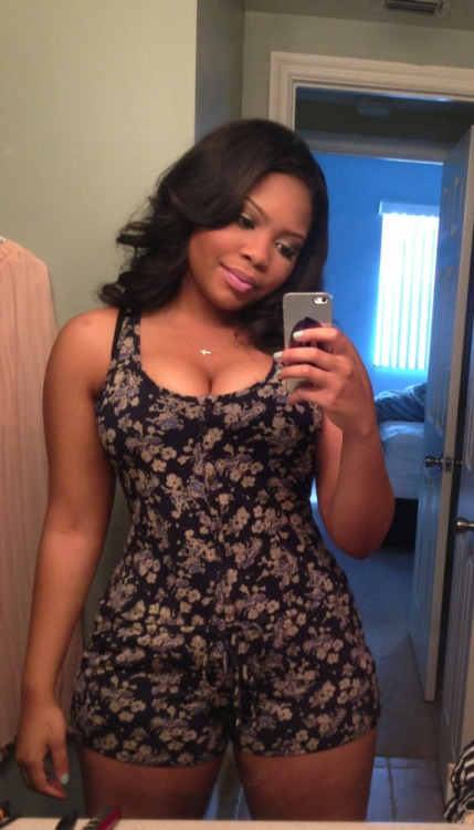 tarynel:  beauchocolat:  She so pretty.   I need this romper and she fine as f**k