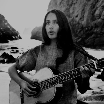 the60sbazaar:  Joan Baez at the beach