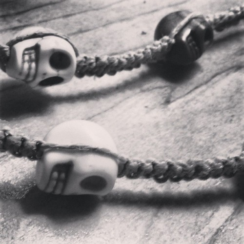 #skull #beads #hemp #necklace #420 #hashontop