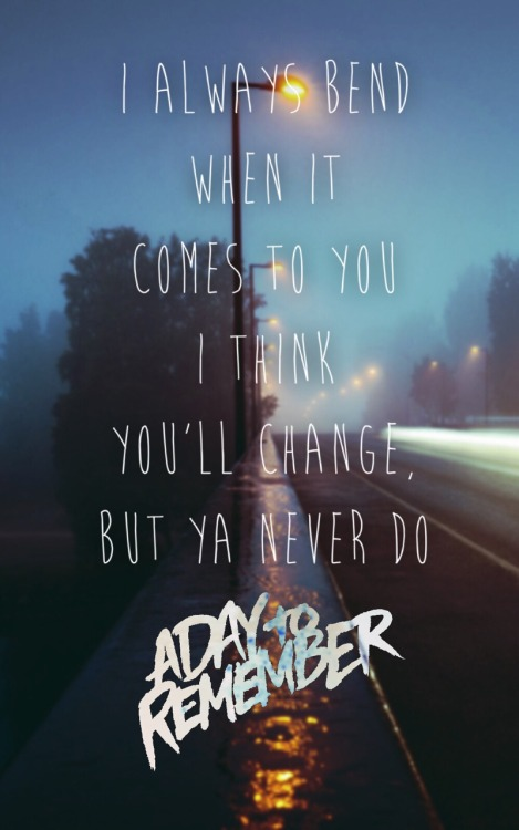 A Day To Remember Lyrics Tumblr adtr-lyrics | T...