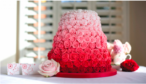 rose wedding cake | via Tumblr on We Heart It. http://weheartit.com/entry/60163405/via/SpitGliterr