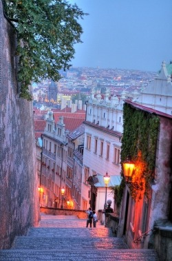 Dusk, Prague, Czech Republic photo via rujinav