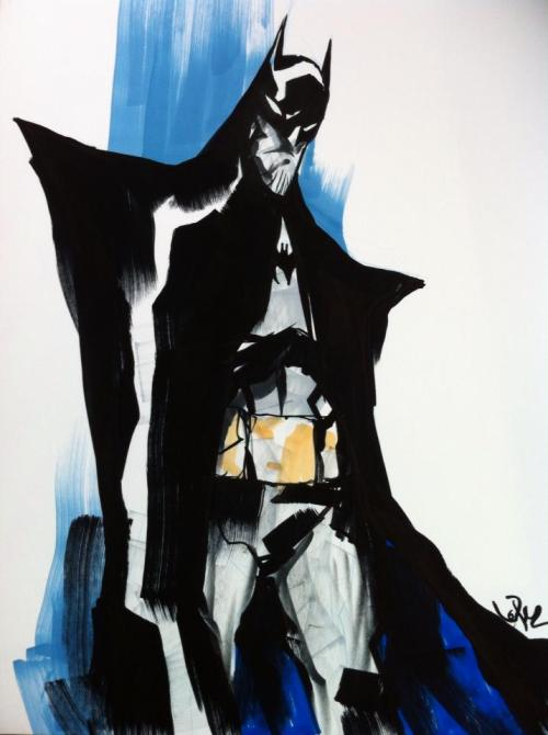 xombiedirge:  Batman Sketch by Jose Lopez / Website