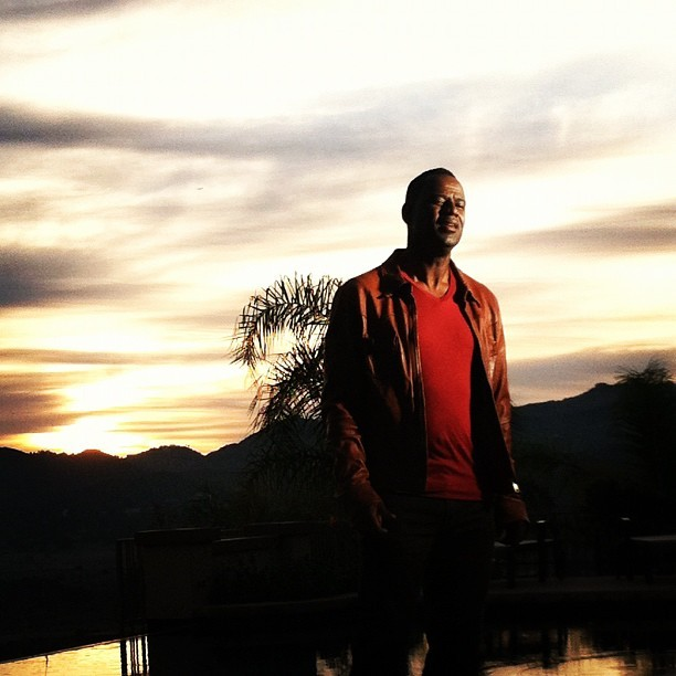 The sunset was stunning during the shoot. #brianmcknight #sunset #video #bts #bmk