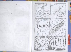 Rough cells for children's book comic book