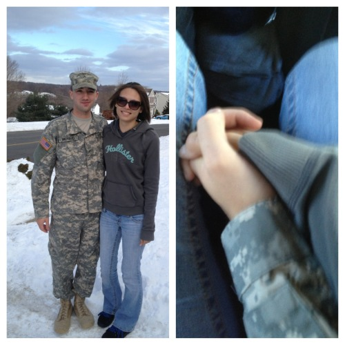 armedforceslove:  My fiancé heading off to AIT from his holiday break. In 17 more weeks he'll come home and we will get married!!