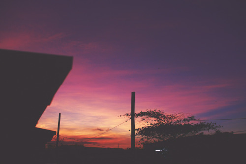 One of the many sunsets at home.Bulacan, Philippines.December 2012.
