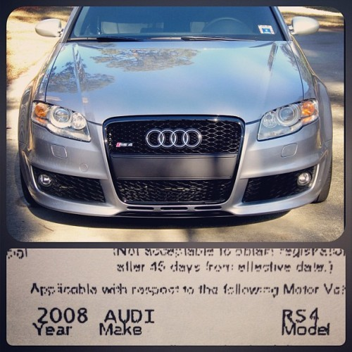 Tomorrow you just might be mine 💏 #audi #rs4 #firstworlproblems #trueclass