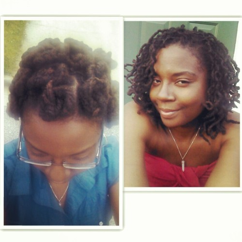 Before and after…braided up loc Bantu knots and the take down 3 days later http://sexantus.tumblr.com/