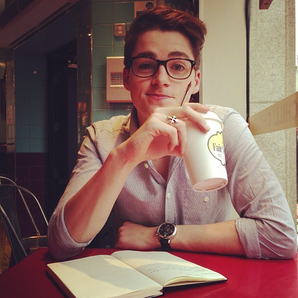 jacksgap:  Friday morning catch up with Finny.. He seems to think its some sort of business meeting..
