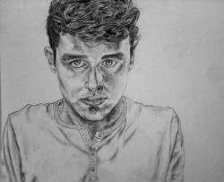 "Self-Portrait 11"" X 14"" pencil on paper"