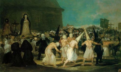 The Procession, Artist: Goya, oil painting