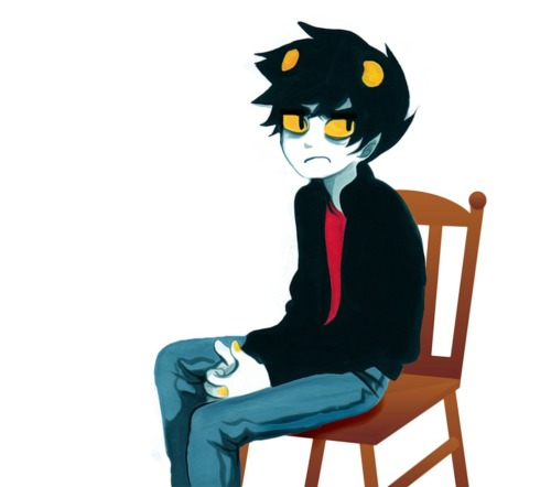 wildparsnip:  karkat on a clipart chair
