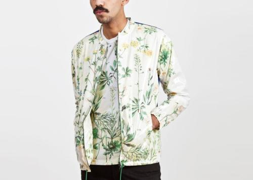 monopolist:  Wax Herbal Print Windbreaker White  Carven via Trés Bien