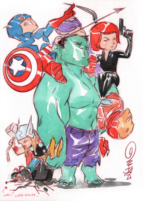 superspacechick:  Avengers by Dustin Nguyen