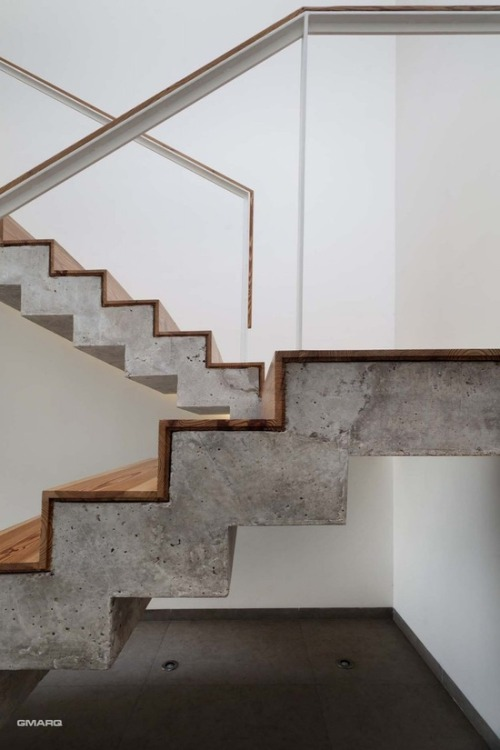 justthedesign:  Section Of The Staircase The A House By Estudio GMARQ Photography By Alejandro Peral