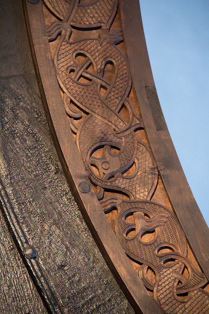daughteroftheoak:  nordravn: Detail of the Oseberg ship by B.Melsom on Flickr