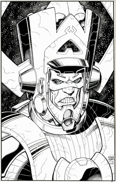 brianmichaelbendis:  Galactus by Arthur Adams! One day I'll own something by him.  Angry god