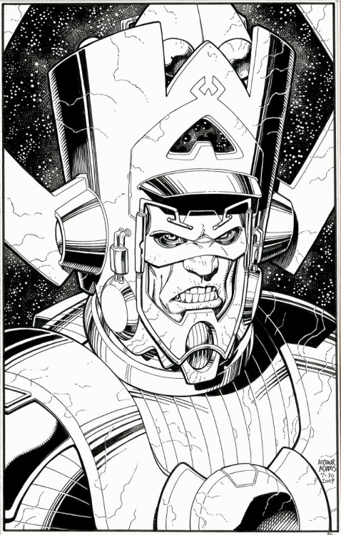 brianmichaelbendis:  Galactus by Arthur Adams! One day I'll own something by him.