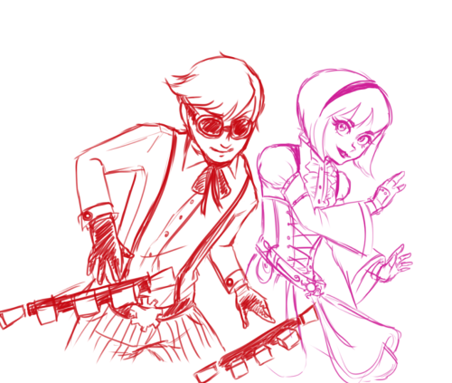 pepper-bandit:  Here be some Dave/Rose steampunk requested earlier this evening. I think I kinda wanna finish this thing. X3  Awww, this is so cool :D I love how you managed to keep their respective styles while goiong full on steam X3