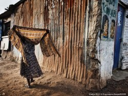 "doctorswithoutborders:  Kenya: Escaping death in Africa's largest urban slum ""When I came to Kibera for the first time I felt humbled by what I saw. It was hard for me to imagine that it was possible to live in such conditions: in Kibera, an estimated 250,000 people live on a five-square-kilometre patch of land. They live in very small houses made of mud or iron sheeting.  MSF Clinical officer, Kelly Khabala, recounts his work treating people in Kibera, Africa's largest urban slum in the Kenyan capital of Nairobi. Dust and smoke, stench, sewage, waste, and water shortages are common and leave their mark on people's everyday lives. There are not enough latrines, and if you want to use a toilet, you have to pay five shillings. Some families cannot afford this, and as a result use plastic bags, which in turn are thrown along the narrow paths of the slum."