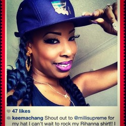 "S/o to Keema rockin the Milli ""Queen Nefertiti"" 5 panel hat 