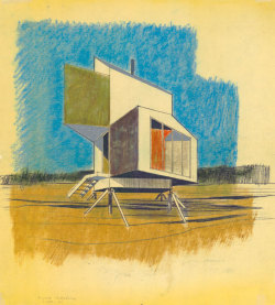 thingsmagazine:  Prefab house concept for Alcoa by Charles W. Moore and William Turnbill (via Mid-Centuria)