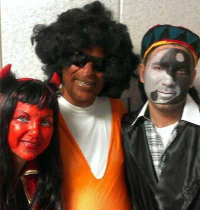 "Jewish politician does blackface, gets into trouble.  Dov Hikind, a state assemblyman from Brooklyn, was celebrating the Jewish festival of Purim, and decided to wear an afro, sunglasses and orange jersey to a party he was throwing. Oh, and dark makeup. ""Someone gave me a uniform, someone gave me the hair of the actual, you know, sort of a black basketball player."" Hikind is now catching heat from other New York politicos but says the reaction is overblown and that it was all in ""good fun."" ""This is political correctness to the absurd,"" he wrote on his blog, even going so far as to say, ""I would do it again in a minute."""