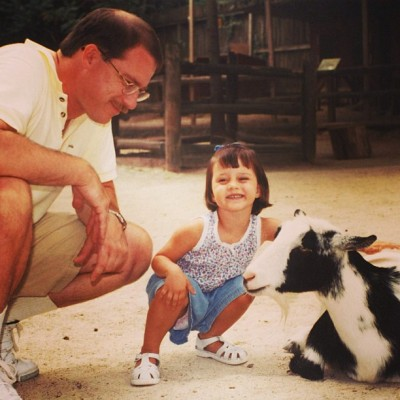 always loved the animals and of course my dad #joetori #me #tbt #throwbackthursday #goat #animal #farm #dad #love #family #cute #child