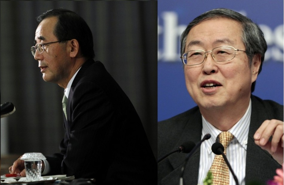Asia Loses Top Two Central Bankers As Shirakawa Quits, Zhou Prepares to Retire. http://www.ibtimes.co.uk/articles/431655/20130205/masaaki-shirakawa-zhou-xiaochuan-china-japan-central.htm