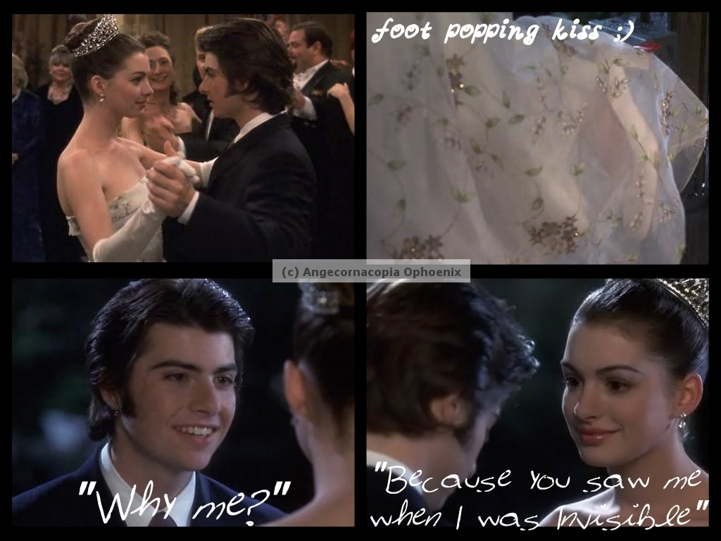 "wishinguponthestarrysky:  RI watched PRINCESS DIARIES the other day and I can't help to smile from the beginning of the film till the end :) I haven't watched that movie for many years :) But, it's still one of my favorite movies :D Michael playing the harmonica Michael saying ""I didn't do it for you"" OUCH! The pizza with the word SORRY written in M&Ms Michael arriving at the ball looking so freaking hot *_____________* ""Why me?"" ""Because you saw me when I was Invisible."" The foot-popping kiss Mia and Michael shared and the beautiful background while they're at it And a whole lot more… :D I just wished Michael was Mia's prince in the 2nd Princess Diaries film :(( btw, I have a major crush on Michael (Robert Schwartzman) hihi ;3"