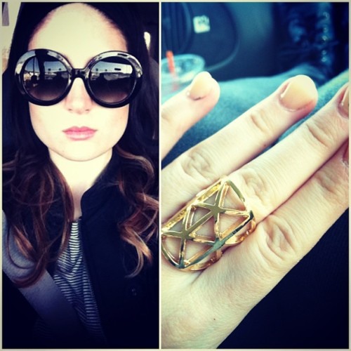 #Prada fakies and fun ring. Happy Sunday #sunglasses #girl #selfie #jewelry