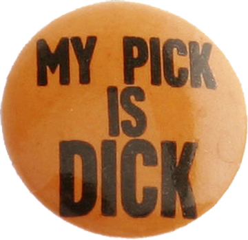 Richard Nixon for President, 1960  Campaign button from Heritage Auctions (HA.com)