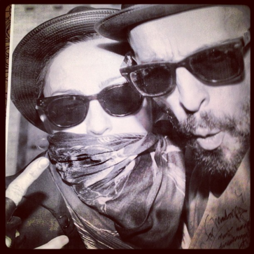 "#Madonna on Instagram: ""with my friend JR. ART Equals revolution!"""