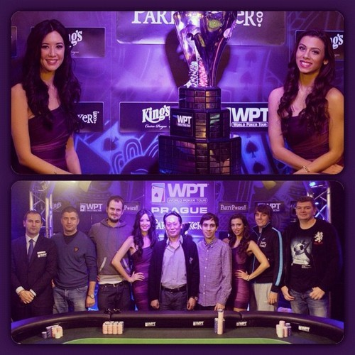 FINAL TABLE pics from #wptprague #2012 #poker #tour #tournament #winner #trophy #girls #royalflushgirls #instafun #instadaily #competition #games #whowillwin #purple #prague  (at Corinthia  Hotel Prague)