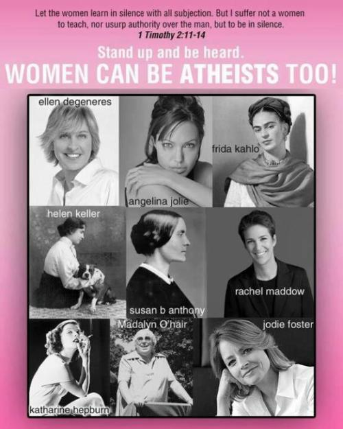 hatefulatheist:  Personally I can't understand how a woman with any level of self respect could willingly submit to the major religions.