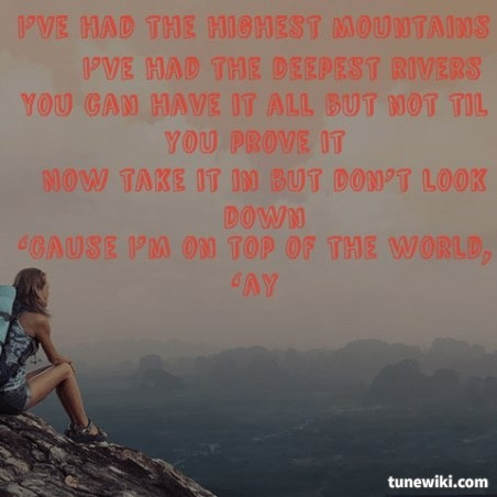 On Top of the World Lyrics by Imagine Dragons