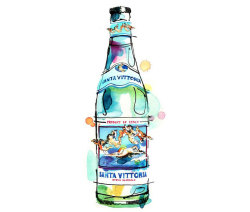 Found this illustrated Santa Vittoria Mineral Water ad on the back of Frankie magazine ;-)