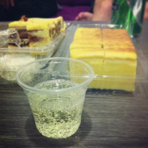 Supper of Prosecco and kek lapis. (at Pullman Resort and Hotel)