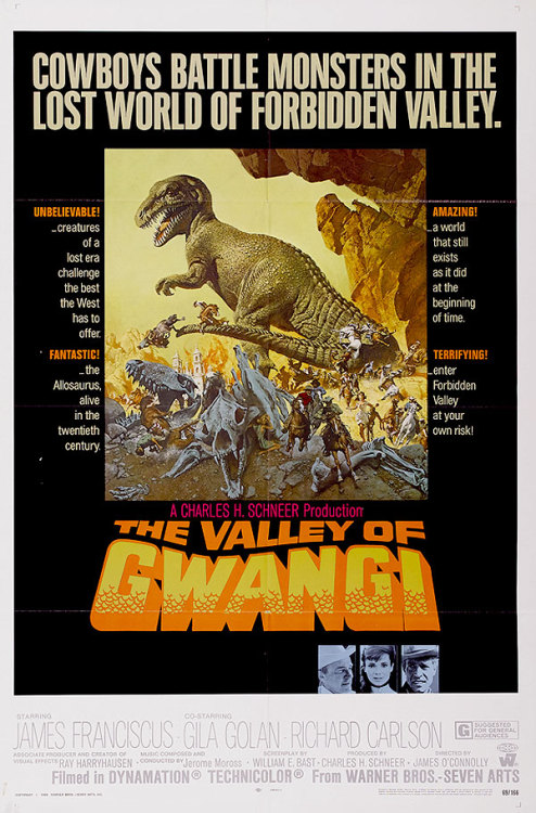 One-sheet for The Valley of Gwangi (1969).