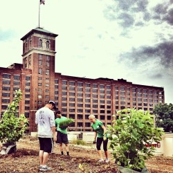 I love seeing all the volunteers planting @treesatlanta trees on the @atlantabeltline & a walking tour happening :) @ecmdawg We will be joining soon!