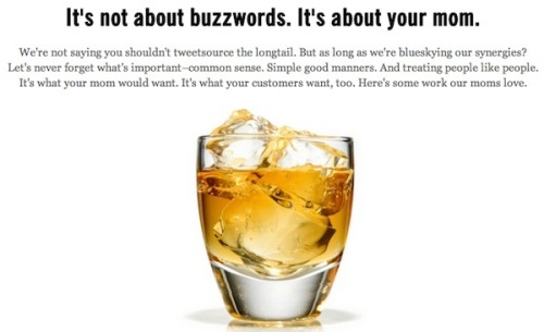 "helloyoucreatives:  The 'Wankiest' Slogans of Ad Agency websites by agencywank.  Agency Wank is a Tumblr blog that collects some of the ""wankiest"" slogans and text from the ad/marketing agency websites.   From unicorns to cheesy lines, these absurd, self-promotional, sanctimonious copies come from real agency websites  See more: http://agencywank.tumblr.com/  still, you noticed them!"