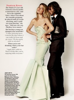 fashion-actually:  Doutzen Kroes in Zac Posen