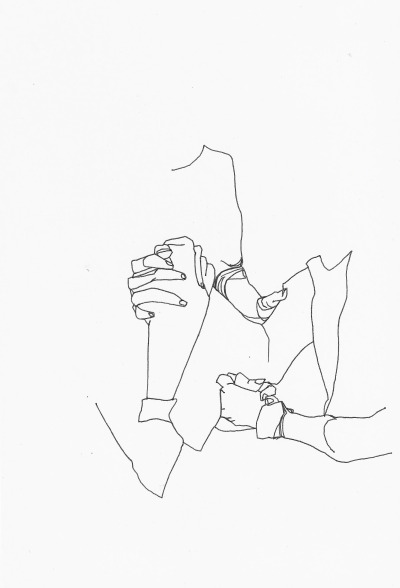 "lmoart:  ""Arm Wrestle"" 2013  some spring cleaning on the 'ol site, purged some old drawings, added some new ones"