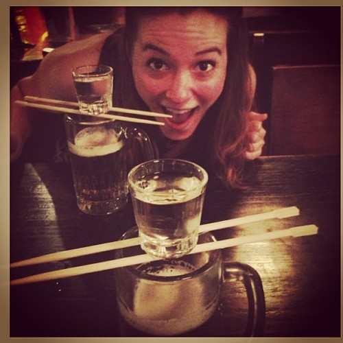 Sake Bomb Sunday!! It's a thing.  (at East Noodle & Izakaya)