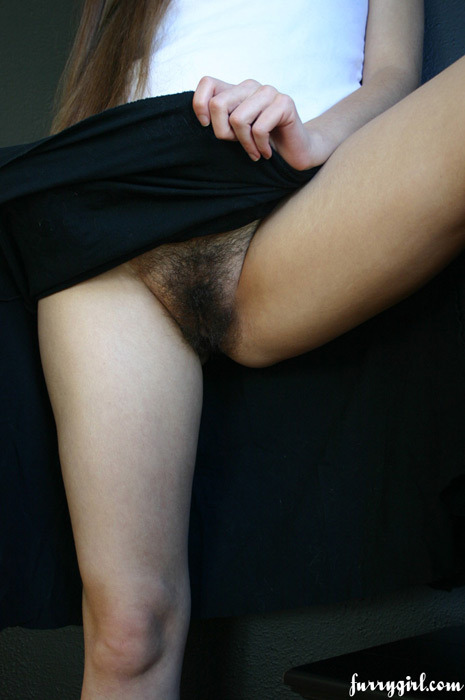 worldbabes:  Furry girl: Under the black skirt