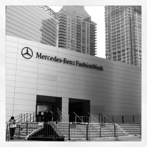 christrini:  Getting ready #nyfw #mbfw #nyc #fashionweek #fashion #christrini #lincolncenter