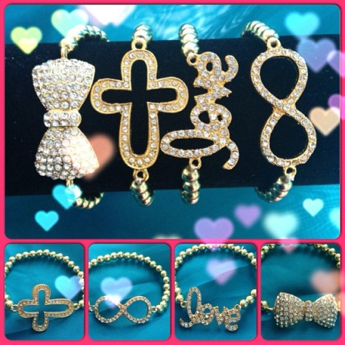 Armcandy set! Glamorous! #Armcandyparty #armcandy Love,Bow,Infinity and Cross! 💗💜💗💜💗💜💗💜💗💜