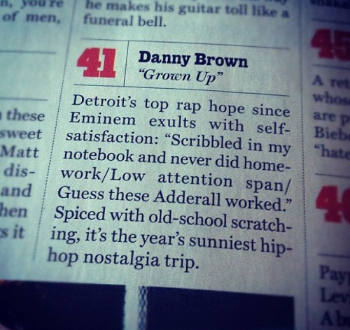 Grown Up makes #41 of Rolling Stone's Best songs of 2012